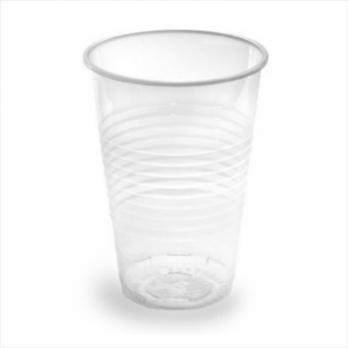 Стакан пластиковый одноразовый прозрачный 200 мл 100 шт в упаковке